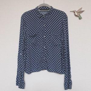 ZARA polka dot crop shirts -M
